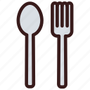 cutlery, fork, meal, spoon