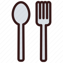 cutlery, fork, meal, spoon icon
