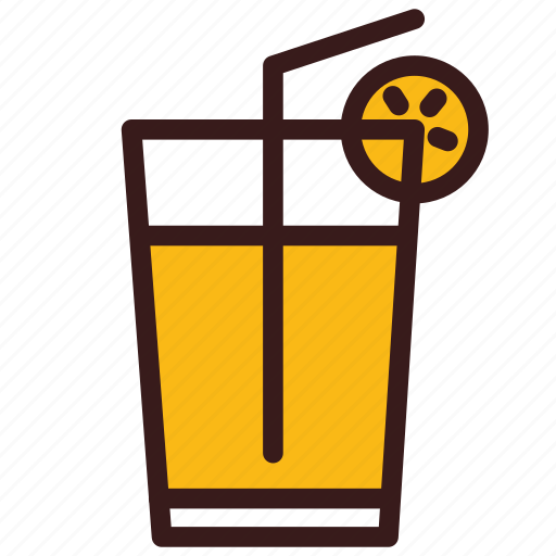 Drink, juice, lemonade, orange, summer icon - Download on Iconfinder