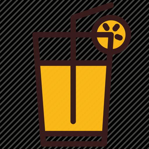drink, juice, lemonade, orange, summer icon