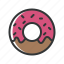 bakery, cake, dessert, donut, food, restaurant icon