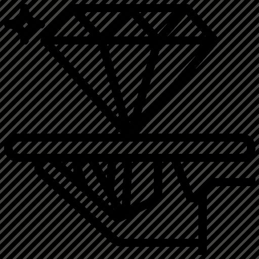 diamond, premium, restaurant, serve, service icon