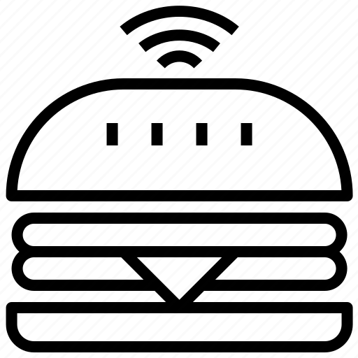 cafe, fast, food, hamburger, restaurant, service, wifi icon
