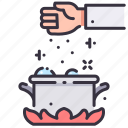 chef, cooking, cuisine, food, hand, restaurant, spice icon