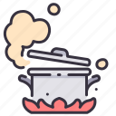 cook, cooking, food, hot, hotpot, meal, pot icon