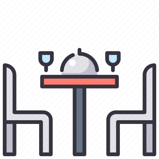 Dinner, dish, drink, food, meal, plate, table icon - Download on Iconfinder
