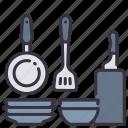 dish, equipment, kitchen, pan, plate, restaurant, turner