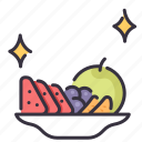 dish, food, fresh, fruit, healthy, organic, vegetarian icon