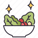 bowl, diet, food, healthy, salad, vegetable, vegetarian icon