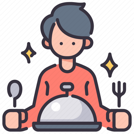 Client, dinner, eat, food, man, meal, restaurant icon