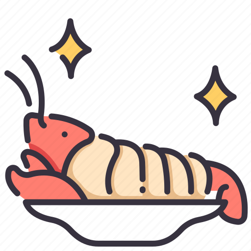 dinner, dish, food, lobster, meal, restaurant, seafood icon