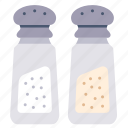 cooking, ingredient, pepper, restaurant, salt, seasoning, spice icon