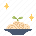 cuisine, dinner, dish, food, meal, pasta, spaghetti icon