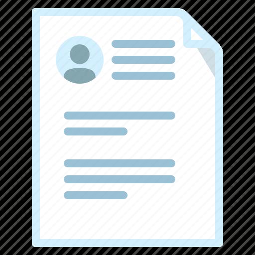 Document, job, profile, resume icon - Download on Iconfinder
