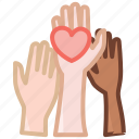 hand, participation, volunteer, volunteering icon