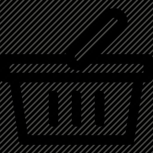 ecommerce, picnic basket, shop, shop basket, shopping basket icon