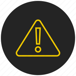 alert, danger, error, notification, problem, warning icon