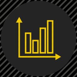 analytics, bar chart, bar graph, dashboard, report, statistics, trend icon