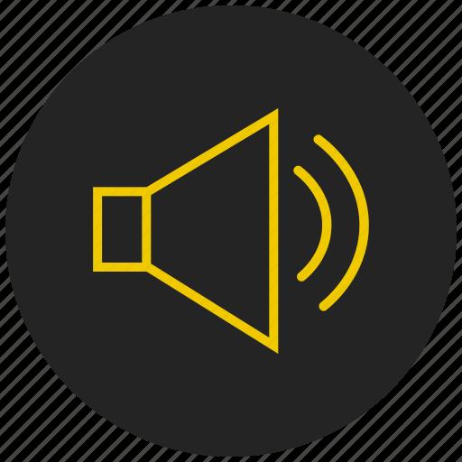attention, audio, music, news, sound, speaker, volume icon