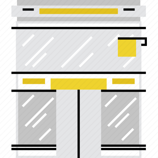 exterior, facade, retail, shop, showcase, store, window icon