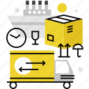 cargo, delivery, freight, logistics, process, shipment, shipping, transportation icon