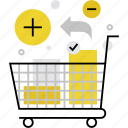 add, cart, goods, market, products, purchase, shop, shopping icon