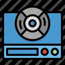 bluray, cd, dvd, player, video icon