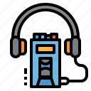 multimedia, player, cassette, music, walkman icon