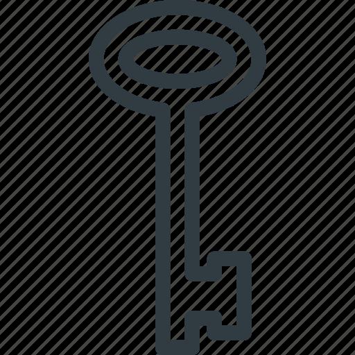 key, old, retro icon