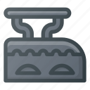 iron, old, retro icon