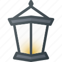 old, retro, streetlamp icon