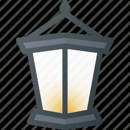 old, retro, streetlamp icon
