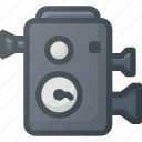 camera, old, retro, video icon