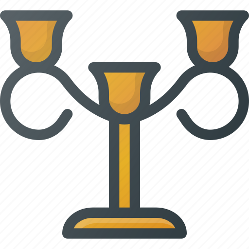 candle, holder, old, retro icon