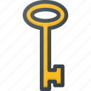 key, old, retro icon