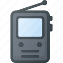 old, pocket, retro, tv icon
