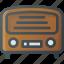 old, radio, retro icon