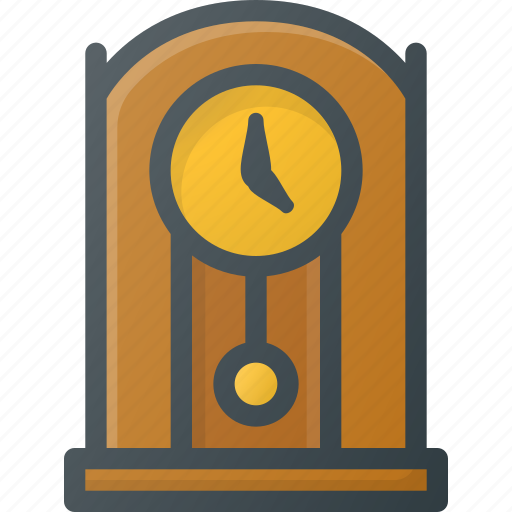 clock, old, retro, vintage icon