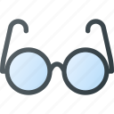 glasses, old, retro, vintage icon