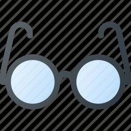 glasses, old, retro, vintage icon