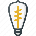 lightbulb, old, retro, vintage icon