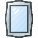 mirror, old, retro, vintage icon