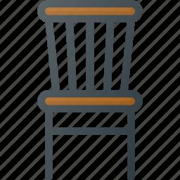 old, retro, seat, vintage icon
