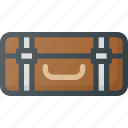 old, retro, suitcase, vintage icon