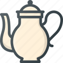 old, retro, teapot, vintage icon