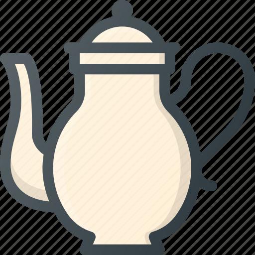 old, retro, teapot, vintage icon