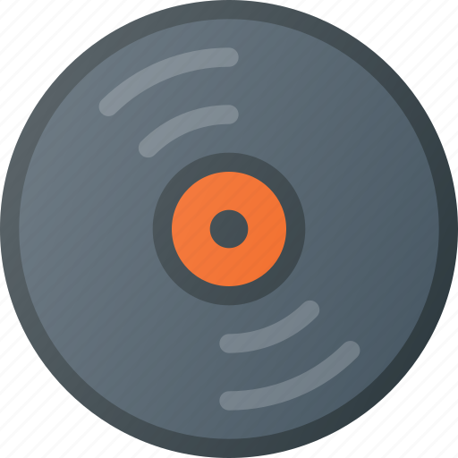 old, retro, vintage, vinyl icon