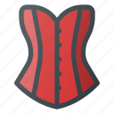 clothes, corset, female, old, retro icon