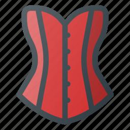 clothes, corset, female, old, retro icon