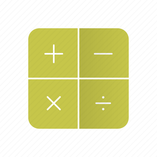 add, calculator, compute, divide, minus, multiply, retro icon